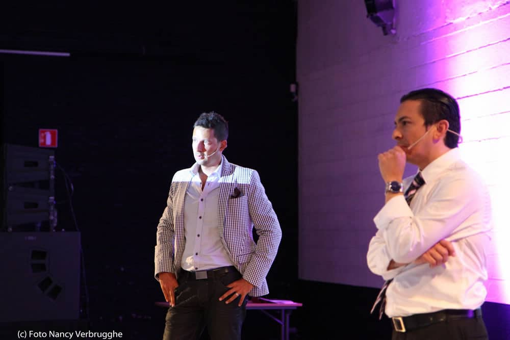 Olivier Blanchard and Brian Solis taking questions at the social business sessions by i-SCOOP – picture by Nancy Verbrugghe