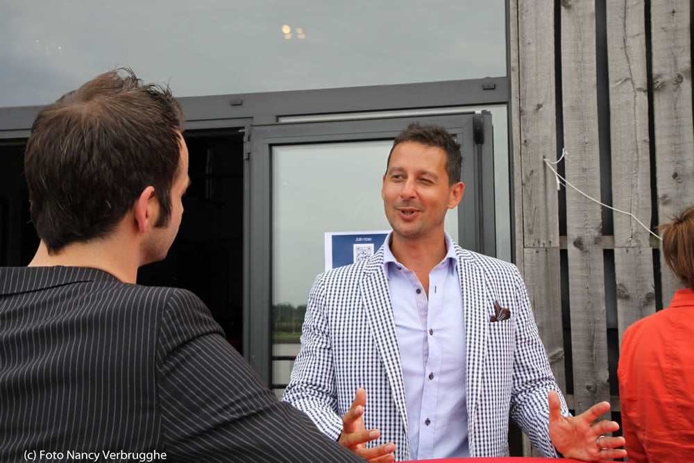 Olivier Blanchard and Thomas Marzano at the Social Business Sessions by i-SCOOP – picture Nancy Verbrugghe