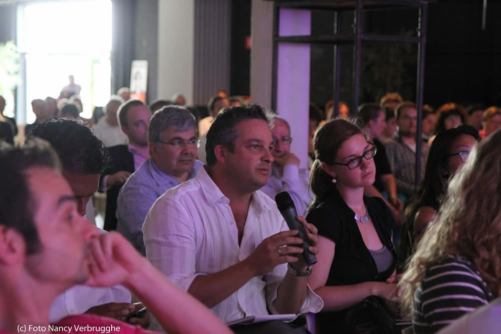 Question time after the first workshop at the Brian Solis social business sessions by i-SCOOP – picture by Nancy Verbrugghe