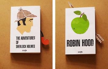 Креативные закладки и обложки для известных книг