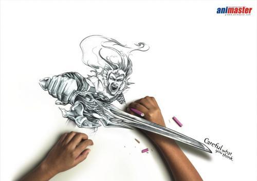 Рисунки карандашом дополненные реальностью от Rediffusion DYR