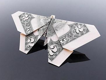 Галерея оригами из долларов (5)