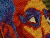 Современное искусство: портреты известных людей из канцелярских кнопок (2)