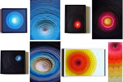 Скульптуры из цветного картона от Мо Вантур (Maud Vantours) (6)