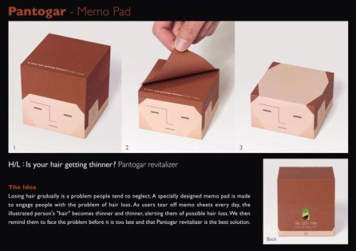 Лысеющий блок для записей стал рекламой препаратов от облысения (2)