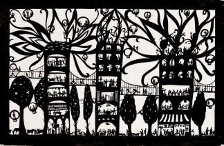 Беатрис Корон (Beatrice Coron) – создательница удивительных миров, городов и стран, вырезанных из бумаги (4)