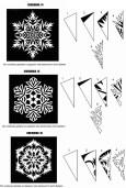 Схемы для вырезания новогодних снежинок из бумаги для украшения офиса (4)