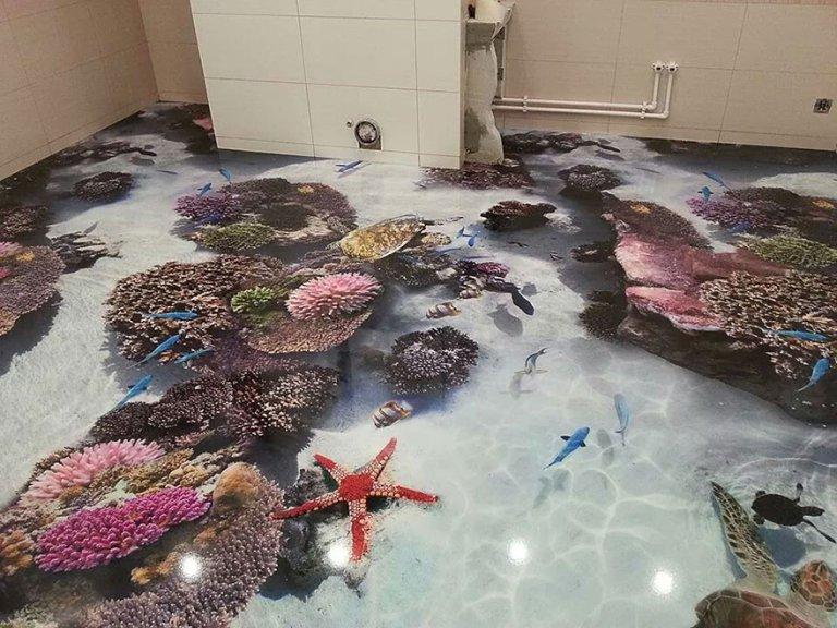 עיצובים של רצפות 3D חדשניות