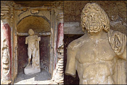 Jupiter-Statue, Domus di Giove e Ganimede