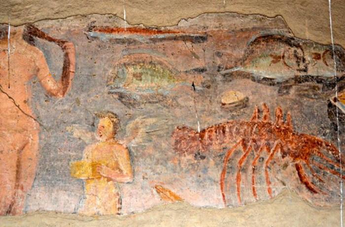 Terme dei Sette Sapienti, Fresco [Sequi]