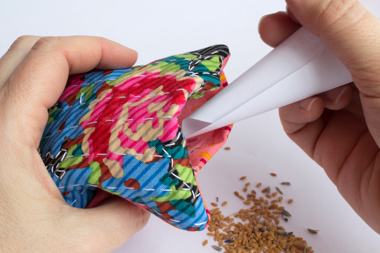 hand stitched sachets fill with lavender