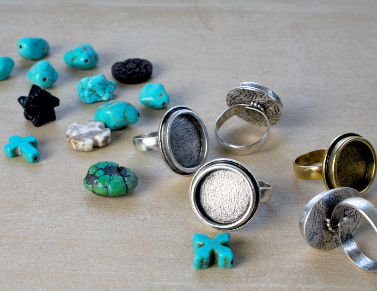 epoxy clay turquoise ring materials