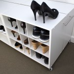 shoe trolley shoe organizer end view