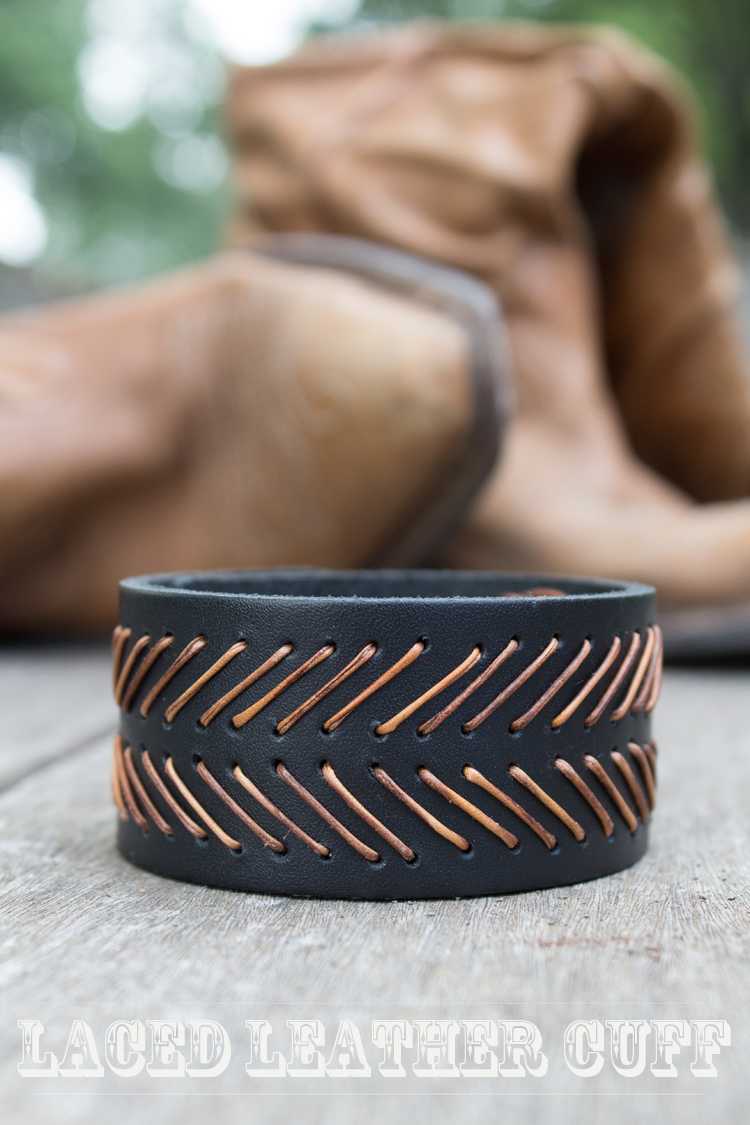 DIY Laced Leather Cuff