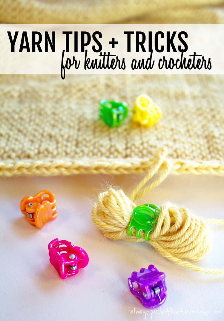Yarn Tips and Tricks - Use a clippy to hold the ends secure