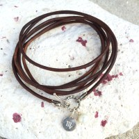 Leather Layering Bracelet with Pinch Clasp