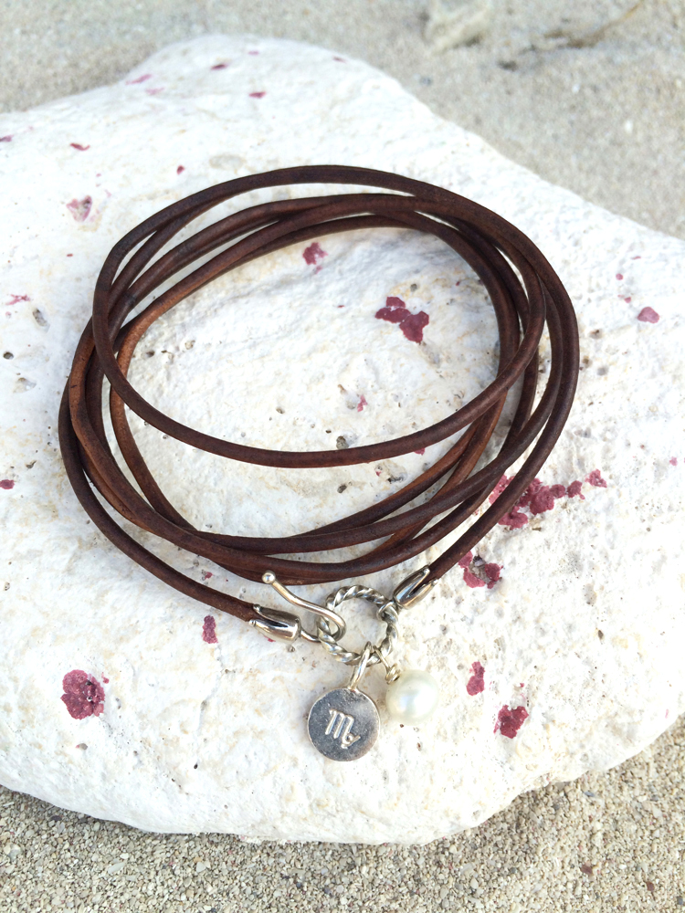 a quick leather wrap bracelet