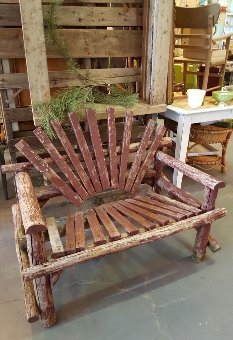 rustic seating