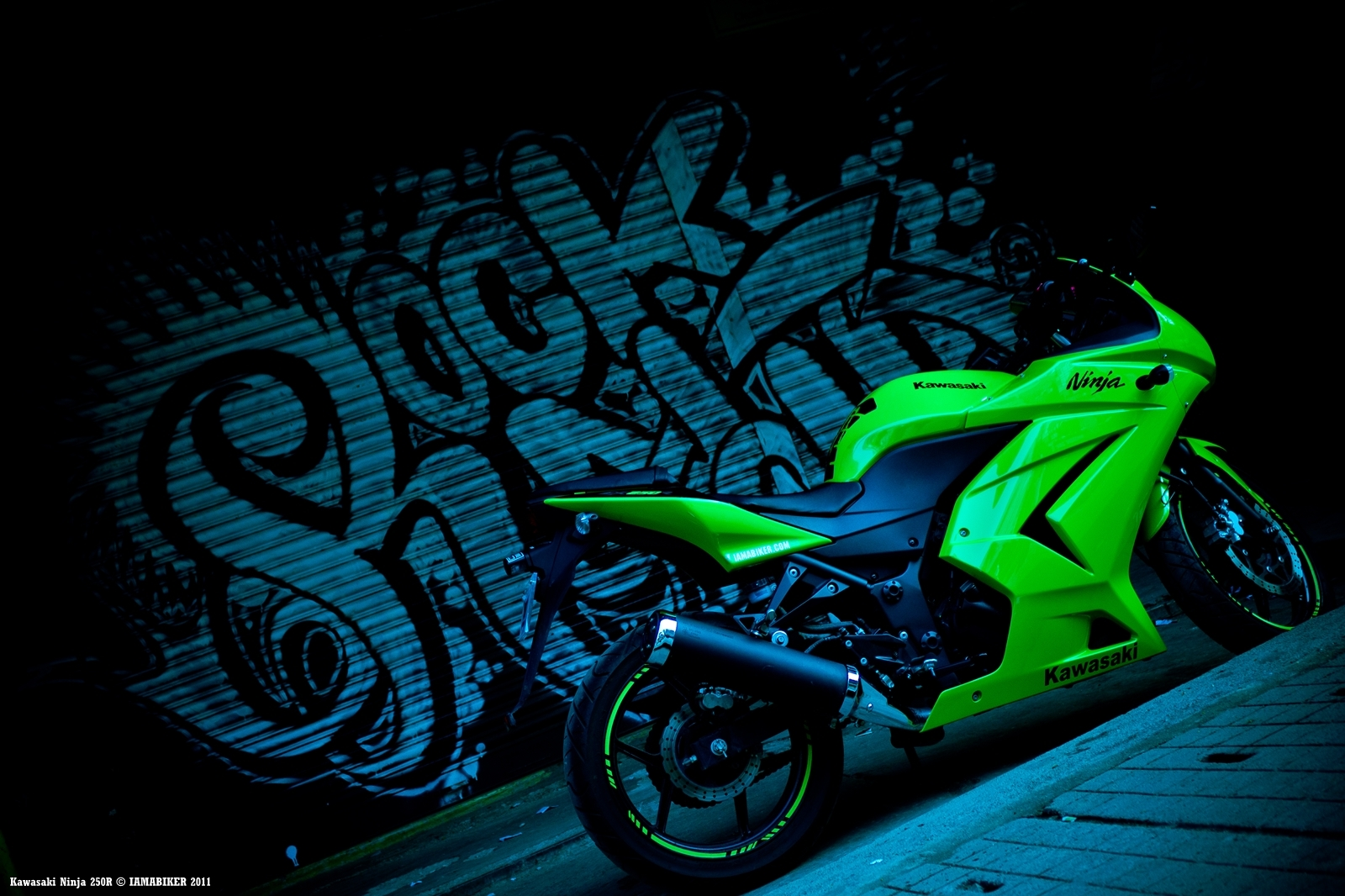 Ninja 250R wallpaper - Happy Diwali 07 IAMABIKER