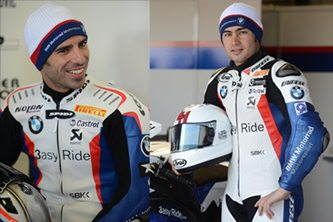 Marco Melandri and Leon Haslam