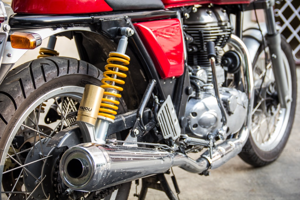 Continental GT - silencer close up