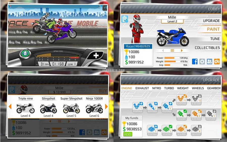 Drag Racing - best top android motorcycle bike race game