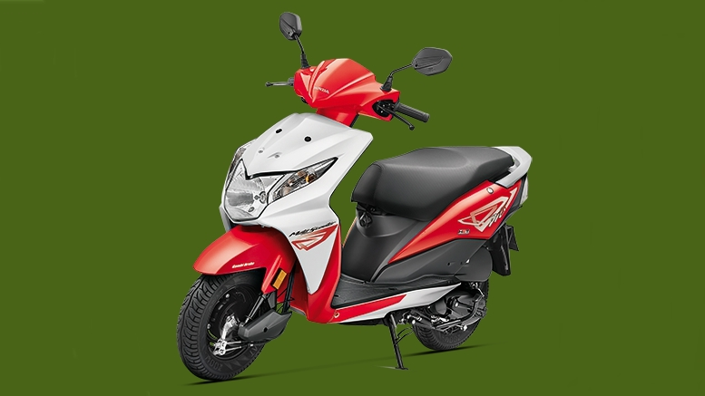 Honda Dio sports red colour option