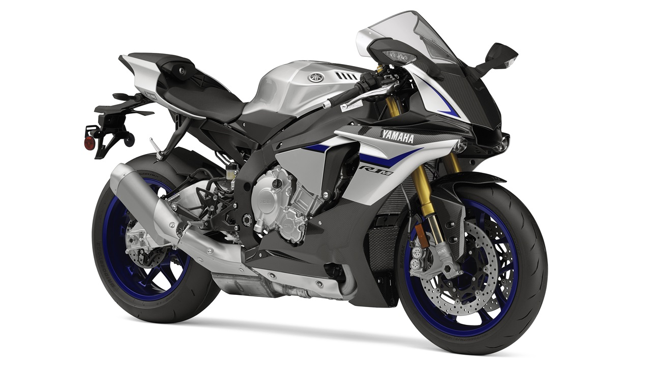 2015 Yamaha YZF-R1M Silver Blu Carbon colour option