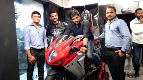 MV Agusta Ahmedabad first customer