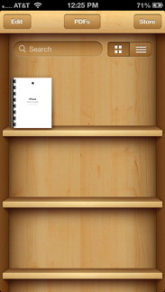 iBooks Bookshelf