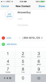 how to add comma in phone number