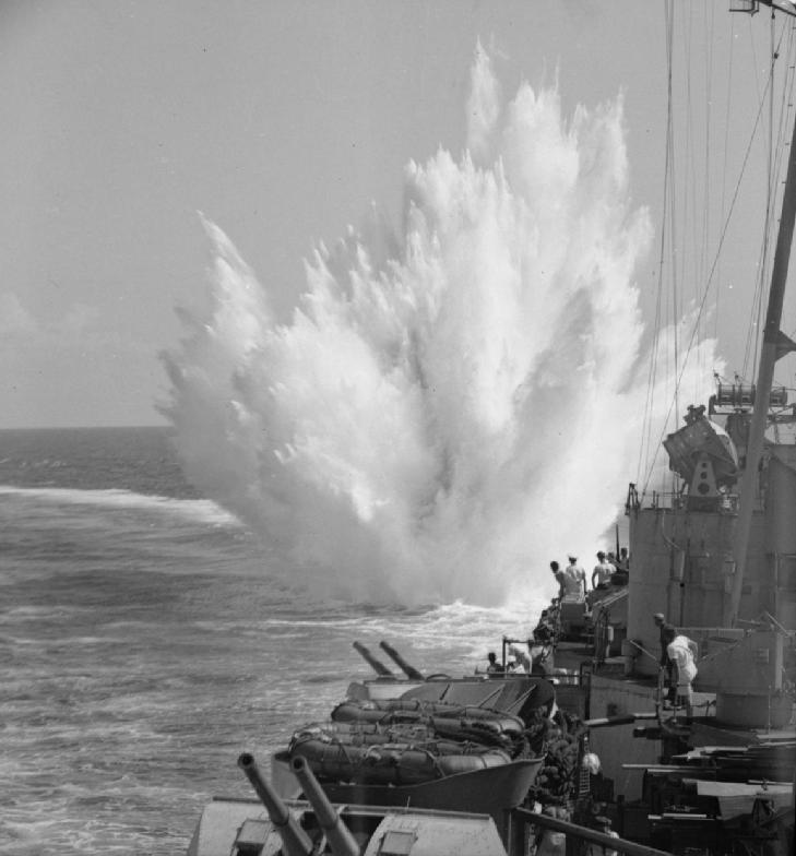 HMS_Ceylon_depth_charge