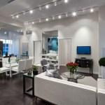 Rain Condos - model suite living area