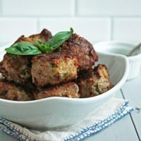 Caprese Meatballs (Low Carb & Gluten Free)