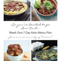 Week One Keto/Low Carb 7 Day Meal Plan & Progress