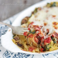 Sausage, Spinach & Spaghetti Squash Bake - Low Carb & Gluten Free