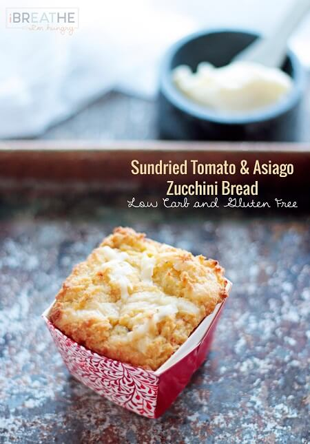 Paleo Sun Dried Tomato and Asiago Cheese Bread