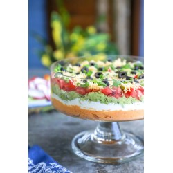 Small Crop Of Layered Mexican Dip