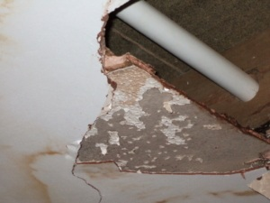 Artex ceiling repairs? Treat with caution - the Artex could contain asbestos!