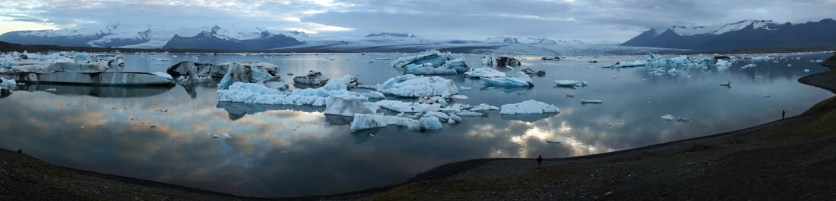 The Jökulsárlón glacier lagoon is 250m deep (SB)