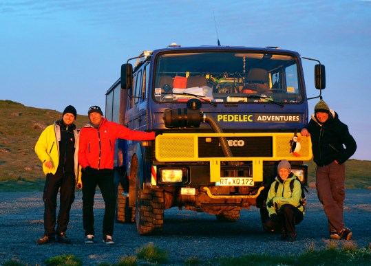 The Pedelec Adventures team and their support vehicle (SB)