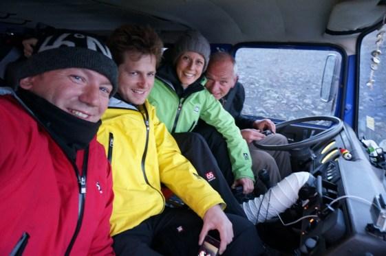The Iceland team: Andreas Gutmann, Ondra Veltrusky, Susanne Brüsch, Uwe Schlemender (AG)