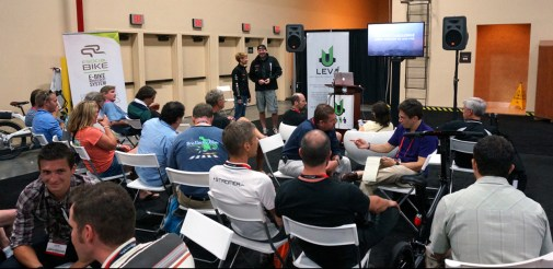 Iceland Challenge presentation at the LEVA E-Bike Lounge at Interbike (US)