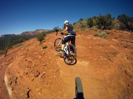 Mountainbike ride on Sedona's Dead Man's Trail (AG)