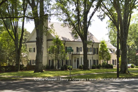 Homes in historic Eastover Charlotte NC