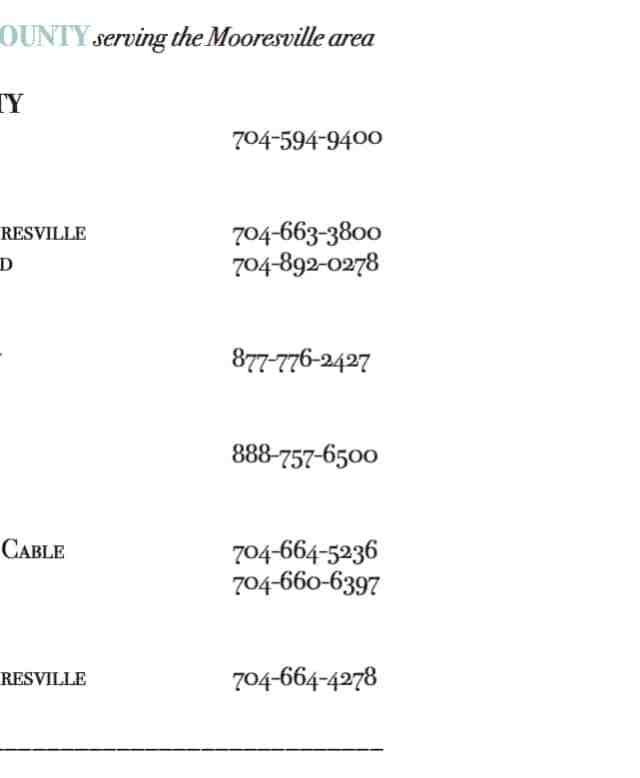 Iredell County Utility Providers