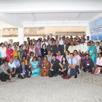 """Participants of the Ruby Anniversary conference on """"Chemical Education and Research for Industrial Development & Sustainable Growth in a Knowledge Based Economy"""" at the Adamantane House"""