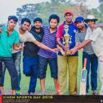 Winners of the Softball Cricket tournament at IchemC Sports Day 2016