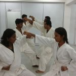 Students during Karate practises
