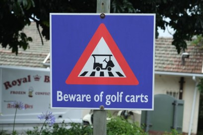 Beware of golf carts